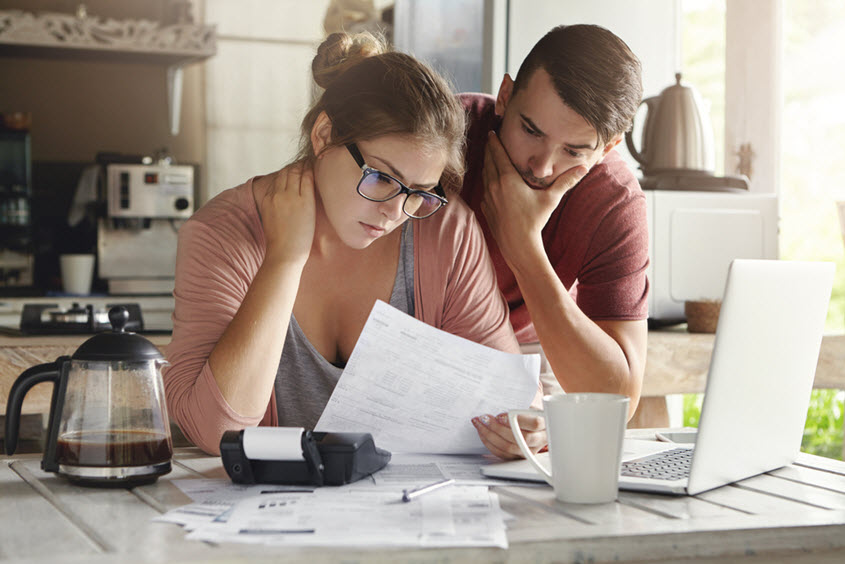 couple doing taxes