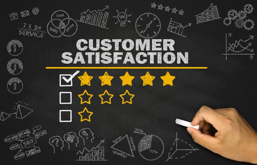 level of customer satisfaction in school