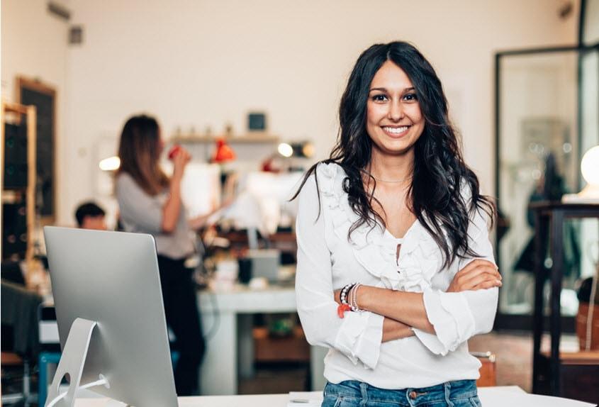 woman entreprenuer in office